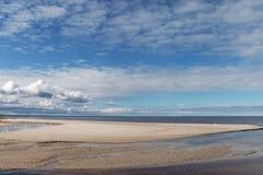 Côte de mer baltique Images libres de droits
