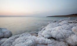 Côte de mer morte, Jordanie image libre de droits