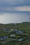 Côte de parc national de Kiillarney sur l'anneau de la route de Kerry, Irlande Images libres de droits