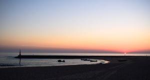 Côte de plage de dÂ'Aguda de Praia Photographie stock libre de droits