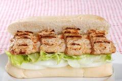 Côte de porc de barbecue sur le pain Images libres de droits