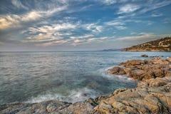 Côte de région de Balagne de la Corse Photographie stock libre de droits