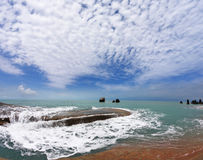 Côte de Samui de KOH après la grande inondation Photographie stock