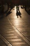 Côte en pierre d'or dans Trogir Photos libres de droits