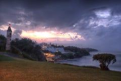 Côte de Tsilivi au coucher du soleil, Zakynthos, Grèce Photo libre de droits