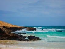 Côte de vue de boa, Cap Vert Photo libre de droits