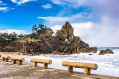 Côte de Wajima, Japon images libres de droits