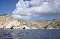 Côte de Zakynthos, île ionienne Images libres de droits
