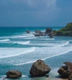 Côte des Barbade Bathsheba Images libres de droits
