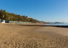 Côte Dorset Angleterre R-U de Bournemouth de plage sablonneuse images libres de droits