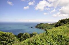 Côte du nord dans le débardeur, Îles Anglo-Normandes Photo stock