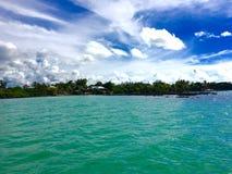 Côte du nord des Îles Maurice Images libres de droits