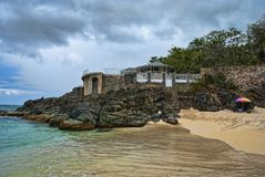 Côte en île de Maarten de saint Photographie stock