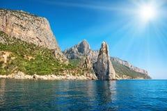 Côte et mer Méditerranée bleue Photo stock