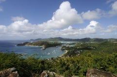 Côte et port sur l'île tropicale Images libres de droits