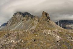 Côte islandaise de Hvalnes - partie du sud d'île. Image stock