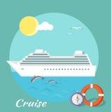 Côte Luminosa de bateau de croisière Tourisme de l'eau Image stock