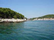 Côte méditerranéenne croate Photographie stock