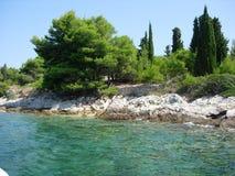 Côte méditerranéenne croate Photo libre de droits