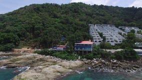 Côte naturelle de la Thaïlande et vacances de détente, d'un bourdon clips vidéos