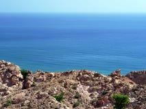 Côte omanaise près de Hasik Photo stock