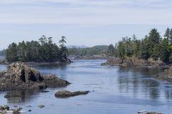 Côte ouest d'île de Vancouver Photos stock