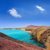Côte Papagayo de plage de Lanzarote Playa del Pozo Images libres de droits
