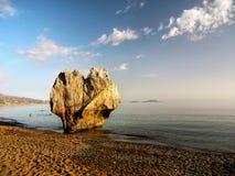 Côte remarquable de plage de formation de roche photo libre de droits
