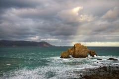 Côte rocheuse d'Ortigueira Image stock