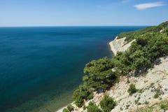 Côte rocheuse de la Mer Noire Photographie stock libre de droits