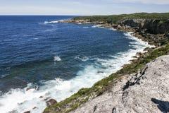 Côte rocheuse de parc national de Booderee NSW l'australie Photos libres de droits