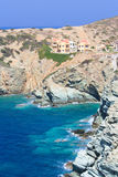 Côte rocheuse sur l'île de Crète, Grèce Photo libre de droits