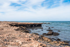 Côte sauvage d'île de Boavista au Cap Vert - Cabo Verde Image stock