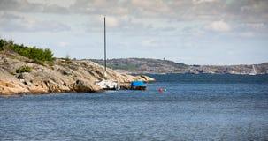 Côte suédoise photo libre de droits