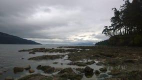 Côte sud d'île de Pender images stock