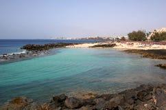 Côte Teguise, Lanzarote Image stock