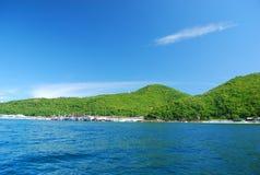 Côte verte de l'île II de Larn Image stock