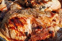 Côtelette de porc grillée photos stock