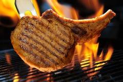Côtelette de porc de barbecue Photographie stock
