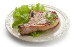 Côtelette frite de porc Images stock