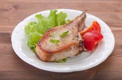 Côtelette frite de porc Photographie stock