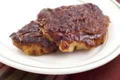 Côtelettes d'échine de porc de barbecue Photographie stock libre de droits