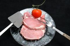 Côtelettes de porc Photos libres de droits