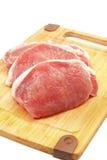 Côtelettes de porc crues Photographie stock libre de droits