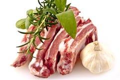 Côtelettes de porc en préparation Photo stock