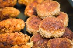 Côtelettes de viande hachée Photographie stock