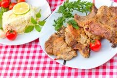 Côtelettes grillées Photos stock