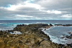 Côtes autour d'île de Pâques Photo stock