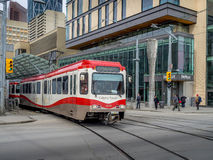 C-Train in Calgary Royalty Free Stock Photography