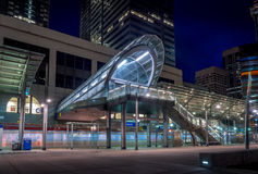 C-Train transit station, Calgary Stock Image